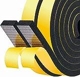 Cinta de espuma gruesa autoadhesiva 25 mm (W) x 10 mm (T) x 4 M (L) Ventana de inicio de celda cerrada Puerta de puerta Excluidora Selladora de burletes Cinta aislante a prueba de sonido, 2 piezas