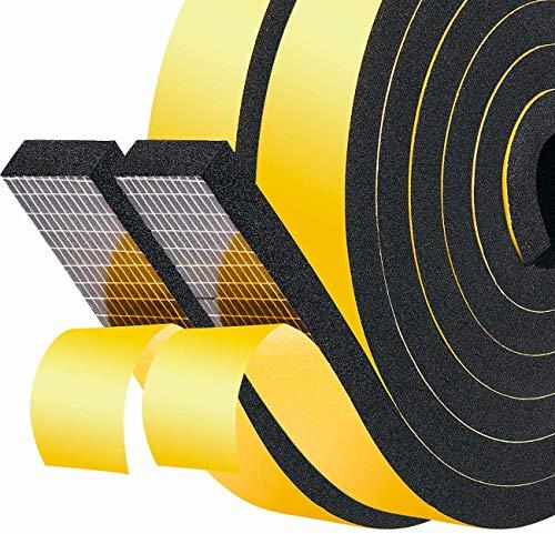 Fowong selbstklebendes Schaumstoff-Klebeband, geschlossner Zellschaum, für Fenster, Tür, Zugluftstopper, Wetterdichtung, schalldichtes Isolierband, Gelb, gelb