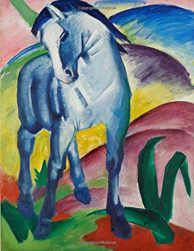 Blue Horse I, Franz Marc. Blank journal: 150 blank pages, 8,5x11 inch (21.59 x 27.94 cm) Laminated