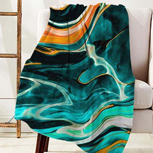 Manta Para Utilice arte abstracto de textura de mármol Blanket 125 X 100CM
