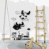 Modeganqingg Nuevo diseño Super Cute Wall Decal Fly Elephant Art Vinyl Wall...
