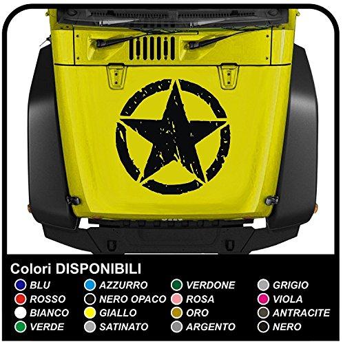 GRAFIC Autocollant pour Capot de Voiture et Tout Terrain Effet d'étoile ruiné usés Autocollant Stickers Graphiques (Noir)