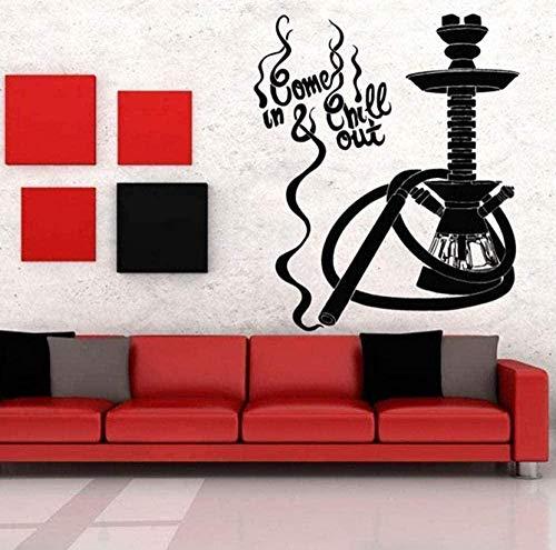 Wandaufkleber Home Decor Wallpaper Shisha Bar Shisha Zitat Kunst Wandaufkleber Muster Reine Farbe 42X50Cm