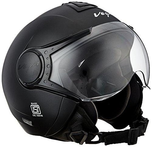 Vega Women's Verve Open Face Helmet (Dull Black, Medium)
