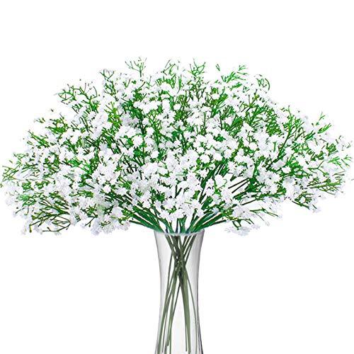 LOXBEE 10 guirnaldas artificiales de Gypsophila con flores secas y tallos falsos vegetales