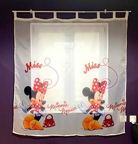 Gardine Minnie Maus Teil 150B x 157L Kinderzimmer Vorhang DISNEY