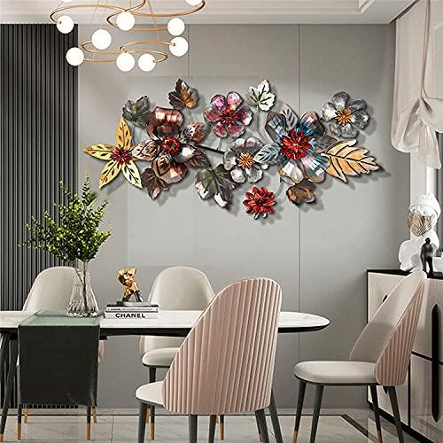 QWEAS Escultura de decoración de Pared de Flor de Metal 3D para baño, Sala de Estar, Dormitorio, Cocina, Exterior, 38,6 x 18,2 Pulgadas
