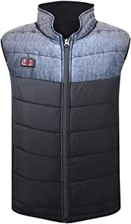 KAIXLIONLY Heated Vest for Men Women,USB Electric Heating with Neck Back Abdomen Warmer Lightweight Adjustable Down Vest