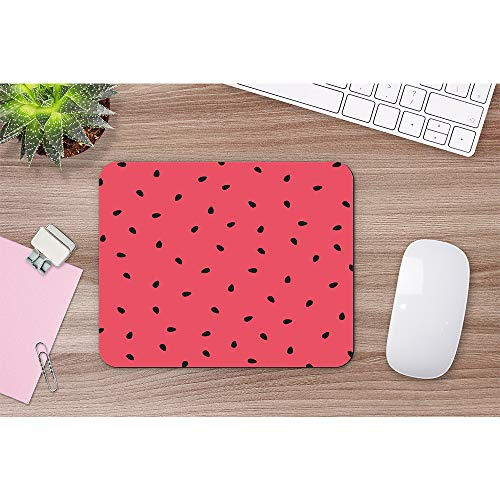 Wozukia Watermelon Slices Mouse Pad with Black Seeds Summer Sweet Fruit Red Gaming Mouse Mat Non-Slip Rubber Base Thick Mousepad Personalized Design Mouse Pad for Laptop Computer PC 9.5x7.9 Inch Photo #5