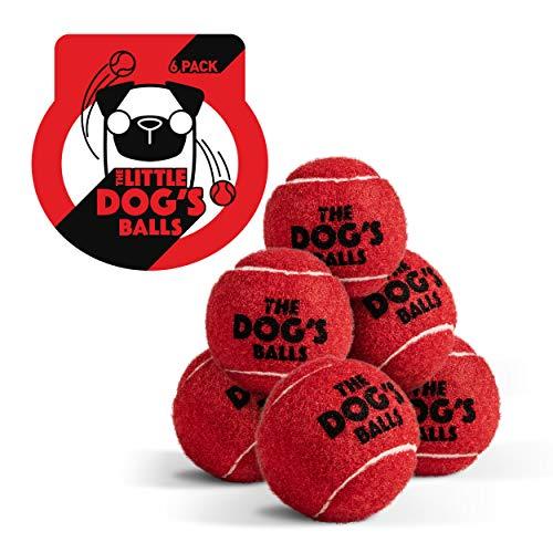 The Little Dog's Bälle, Hunde-Tennisbälle, klein, Rot, 6 Stück