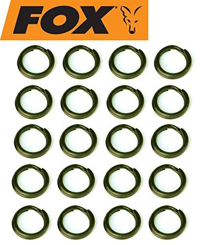 Fox Rage Black Split Rings Sprengringe Sprengring, Raubfischmontage, Raubfischrig, Hechtrig, Zanderrig, Hechtmontage, Durchmesser:3.5mm