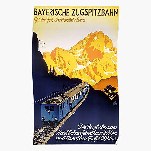 Germany Zugspitzbahn Advertisement Bayerische Garmisch Tourist Bavarian German Vintage Travel Alps Partenkirchen Home Decor Wandkunst drucken Poster !