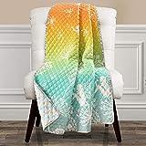 Make A Wish Dandelion Fairy Ombre Pastel Rainbow Reversible Print Throw Blanket