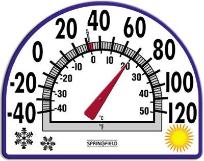 Taylor Window Cling Thermometer 7' Dia.