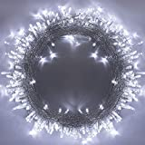 320LEDs Christmas String Lights, 35m/115ft 8 Modes Memory Function End-to-End Extendable Plug in Waterproof Indoor/Outdoor Fairy Twinkle Light for Thanksgiving Day/Christmas/Wedding/Patio - Cool White