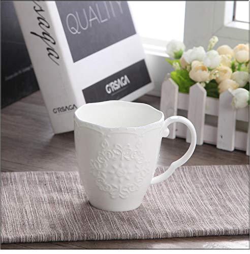 Tazas De Nieve Bonitas De Porcelana En Relieve Blanca De 300 Ml, Taza De Café Nespresso, Tazas Divertidas De Cerámica, Taza para Café, Taza-A