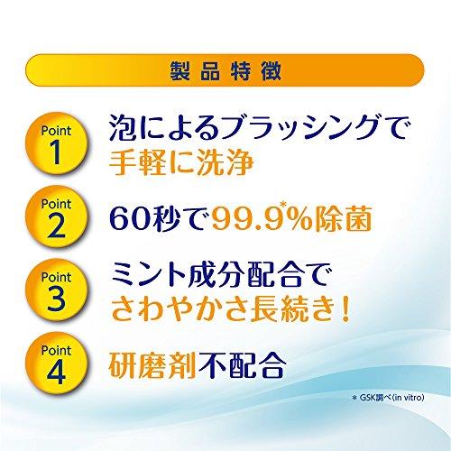入れ歯洗浄剤ポリデント泡のハミガキ(入れ歯・矯正用リテーナー・マウスガード洗浄)125mL