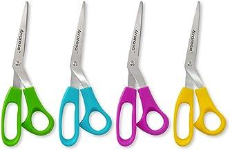 Avarosa Premium Sewing Scissors, 4 Pack Multi Purpose, 8 Inch, Ultra Durable Stainless Steel Blade, Comfortable Plastic Ha...