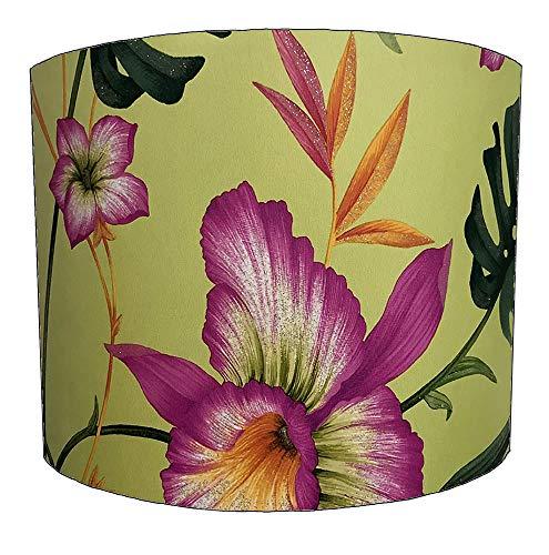 DELPH DESIGN LIGHTING LTD Lampenschirm für Deckenleuchte, Blumenmuster, 20,3 cm, Grün, 38