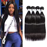 Peruvian Straight Virgin Hair Weave 4 Bundles Peruvian Hair Bundles Straight Human Hair Weft Extensions 95-100g/pc 22 24 26 28