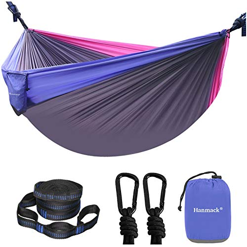 Camping Hammock Portable Double Hammock with 2 Tree Straps162 Loops 2 Person Hammocks with 210T Parachute Nylon for Backpacking Outdoor Beach Travel Hiking Garden Lightweight Hammock Swing