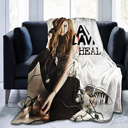 Avril Lavigne Winter Ul-tra Soft Blanket Fashion Lightweight Blanket for Sofa and Bed 50'x40'