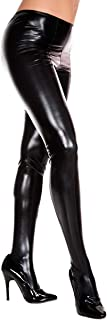 Music Legs Damen Wetlook Strumpfhose