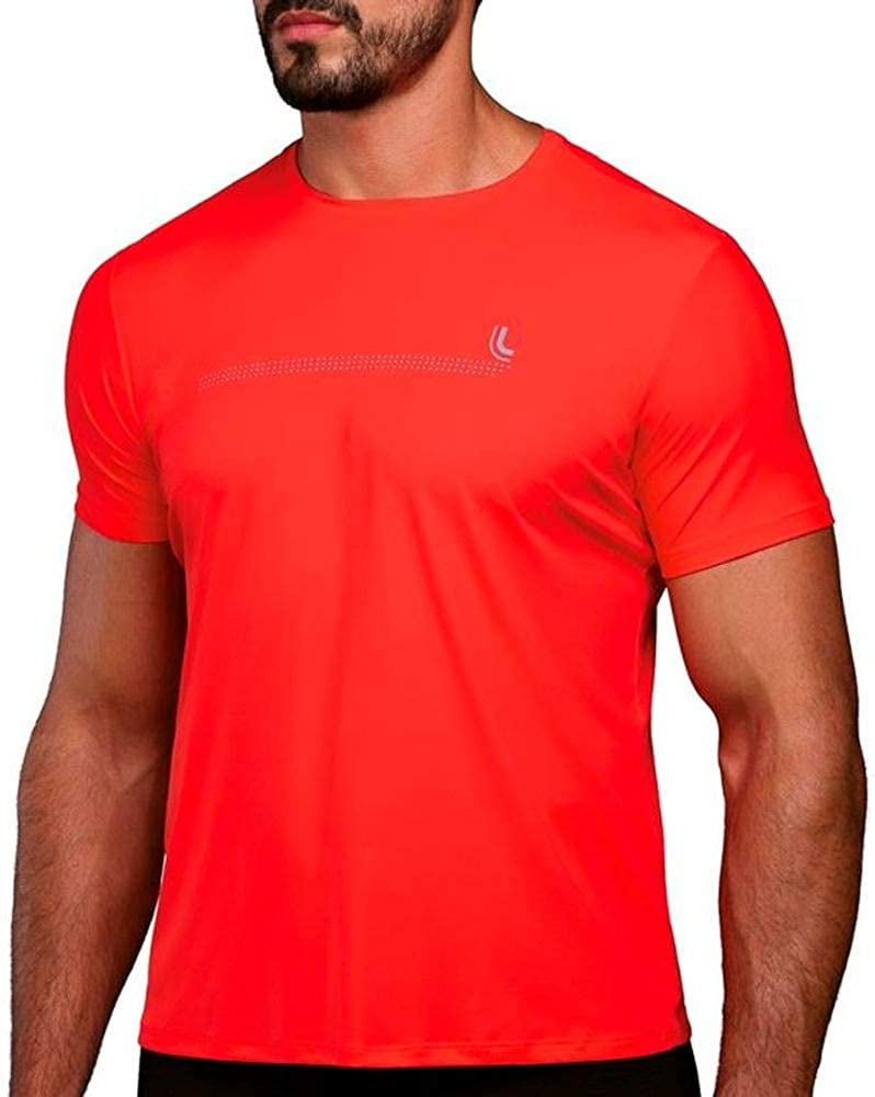 Lupo Men's Quick Dry UPF 50+ Sun Rashguard Sport T-Shirt Short Sleeve