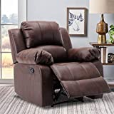 Leather Lazy Boy Recliner, Oversized Chair, Leather Recliner Chairs for Living Room,Brown