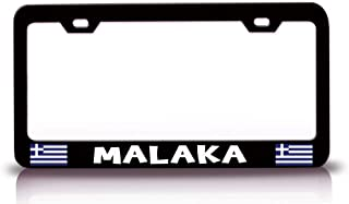 Jseng License Plate Frame for Greek Greece, Stainless Steel Auto Car Truck Tag Frame, License Plate Cover Holder for US Vehicles