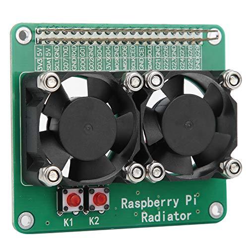 Qqmora Placa de extensión del disipador de Calor de refrigeración Módulo de radiador de Ventilador de refrigeración Doble Estándar Negro para refrigeración