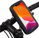 Soporte movil Moto Funda Impermeable Universal Valida telefonos de hasta 6.5' sujecion irrompible con Enganche Extra al Manillar Soporte movil Bici Soporte movil para Moto