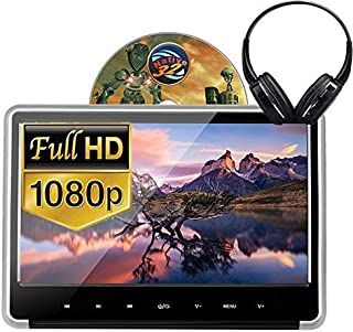 Alondy Car Headrest DVD Player 11.6 Inch 1920x1080P IPS LCD Screen Monitor, DVD/USB/SD/HDMI/Sync Screen + IR Wireless Head...