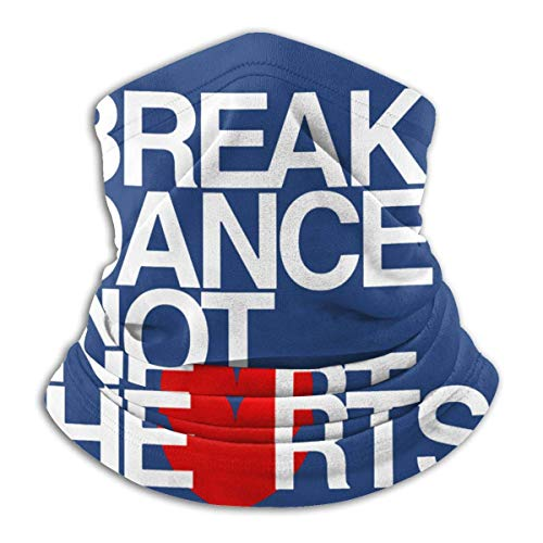 Dydan Tne Break Dance Not Hearts Unisex Microfibra Cuello Calentador Headwear Pañuelo Facial
