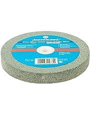 Silverline Tools 836851 slijpschijf, groen, siliciumcarbide, bank, 0 V, grijs