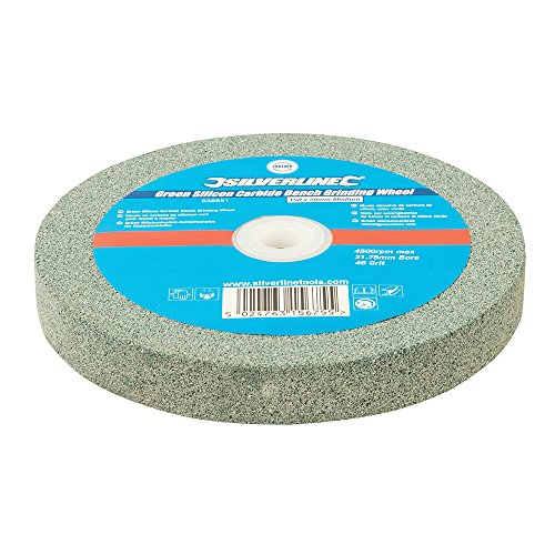 Silverline 836851 Muela Abrasiva de Carburo de Silicio, Color Verde, 150 x 20 mm, Medio