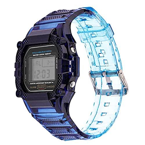 Flyuzi Caja de Resina TPU Caja de Reloj para CASIO G-Shock DW-5600 GW-M5610 M5600 GLX-5600 Reemplazo de reemplazo de la Banda de muñeca Accesorios (Band Color : Blue Gradient, Band Width : 5610)