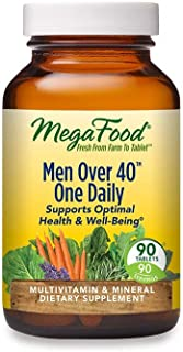 MegaFood, Men Over 40 One Daily, Daily Multivitamin and Mineral Dietary Supplement with Vitamins B, D and Zinc, Non-GMO, V...