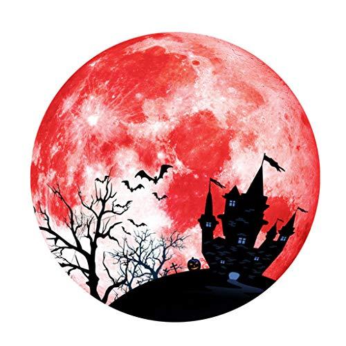 Creative Luminous Moon Wall Sticker Halloween Decoration Sticker Castle Bat Home & Garden Home Decor