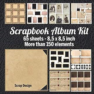 Scrapbook Album Kit: 65 sheets 8,5 x 8,5 inch - More than 150 elements
