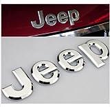 Cromo Jeep tronco tapa Emblema capucha Insignia Logo Adhesivo Ascensor Puerta Placa