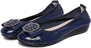 [WOOYOO] ペタンコ レディース バレエシューズ 痛くないパンプス ローヒール リボン 歩きやすい 疲れない エナメル クッション性 屈曲性 抗菌 美脚 カジュアル デイリー コンフォート 婦人靴 ブラック