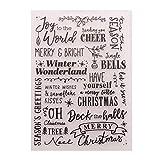 Merry Christmas Happy New Year Kunststoff-Prägeschablone für Scrapbook-DIY Album Karte Werkzeug Kunststoff Vorlagen Ordner