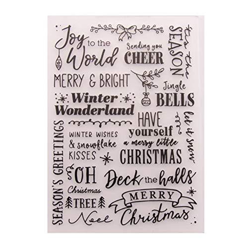 Merry Christmas Happy New Year Plastic Embossing Folder for Scrapbook DIY Album Card Tool Plastic Template Folders