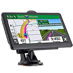 GPS Navigation for Car, Latest 2020 Map 7 inch Touch Screen Car GPS 256-8GB, Voice Turn Direction Guidance, Support Speed and Red Light Warning, Pre-Installed North America Lifetime map Free Update…