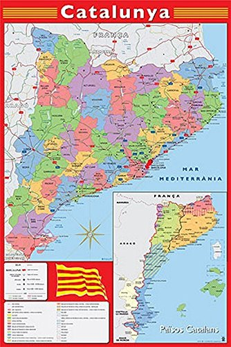 Grupo Erik Editores Poster Mapa Catalunya