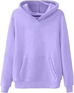 NOBRAND Womens Solid Color Sweater Hoodie