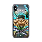 Diskoer Compatible with iPhone 6 Plus/6s Plus Case One Piece Zoro Fighting Sword Skill Supernatural Adventure Anime Pure Clear Phone Cases Cover