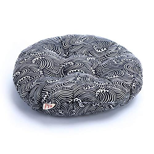 FKIHK SitzkissenRound Pouf Tatami Kissen Kissen Bodenkissen Leinen Baumwolle Sitzkissen Pad Dekokissen Kissen japanischen Tatami Kissen Stuhl, Farbe C, 42x42x8cm