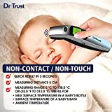 Dr Trust (USA) Forehead Digital Infrared Thermometer for babies and Adults with color Coded Fever Guidance (silver)- 603